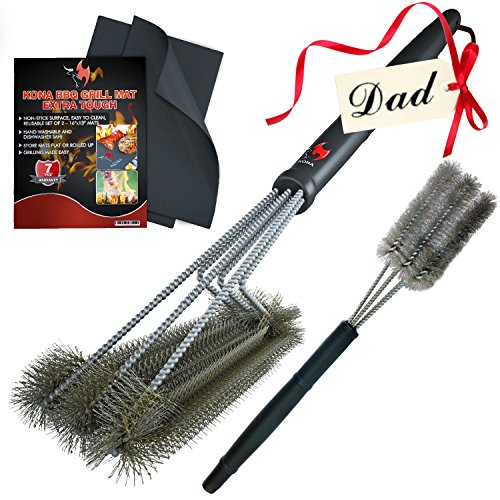 Kona Grill Accessories Collections   Barbecue Tool Gift Sets   Multiple Sets Available For Men  Women   Bbq Lovers  Grill Mats   360 Clean Grill Brush