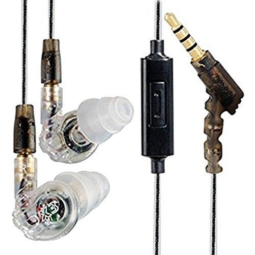 GranVela ® Moxpad X3 Geräuschisolierenden Musiker In-Ear Monitore Kopfhörer mit abnehmbare Kabel / Memory-Draht / Mikrofon / 3.5mm Jack Earbuds für Bühne und Studio Monitoring --transparent