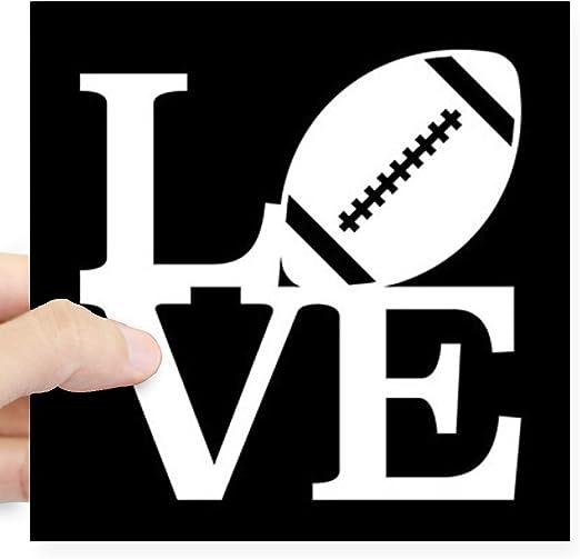 I Love Football Car Bumper Sticker Decal 3/'/' or 5/'/'