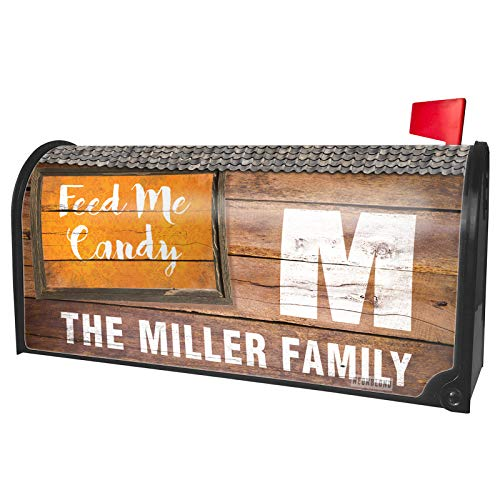 NEONBLOND Custom Mailbox Cover Feed Me Candy Halloween Orange -