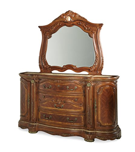 - Michael Amini Cortina Dresser, Honey Walnut