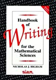 img - for Handbook of Writing for the Mathematical Sciences book / textbook / text book