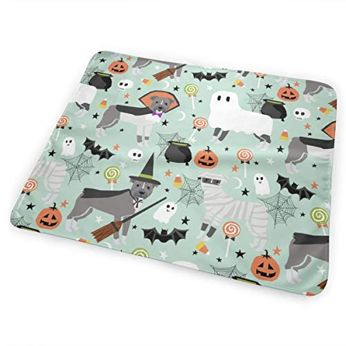 (Pitbull Halloween Costume Dog Vampire Ghost Mummy Light Baby Portable Reusable Changing Pad Mat 31.5x21.5)