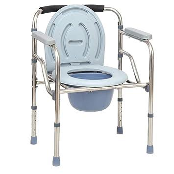 Silla de Baño Para Discapacitados Plegable Inodoro Para ...