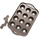 Tosnail 12 Cavity Flower-shaped Mini Cheesecake Pan Cupcake Pan with Removable Bottom