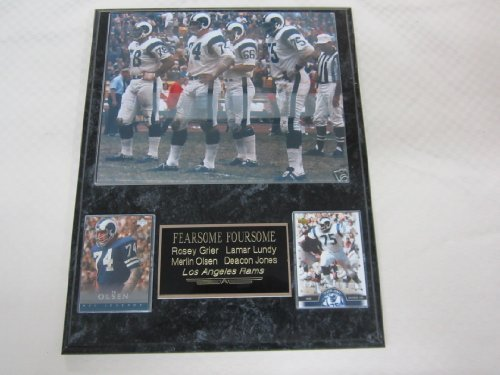 - Los Angeles Rams FEARSOME FOURSOME 2 Card Collector Plaque w/8x10 Photo