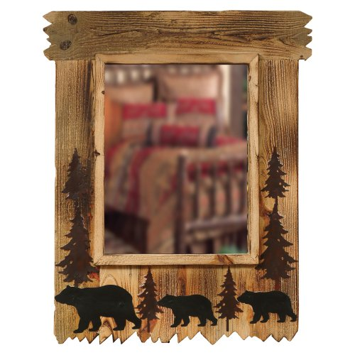 Black Forest Décor Wood Black Bear Mirror Black Forest Wood Products