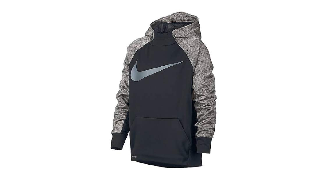Nike Boys Therma Training Hoodie SM Black/Grey