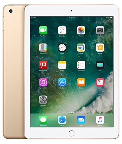 Apple iPad with WiFi + Cellular, 128GB, Gold (2017 Model)