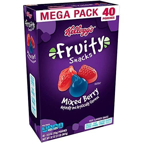 Image of Fruity Snacks, Mixed Berry, Gluten Free, Fat Free, 32 Oz (40 Pouches)