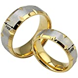 The New Golden Couple Titanium Steel Rings Couple Rings Wholesale (8, women)