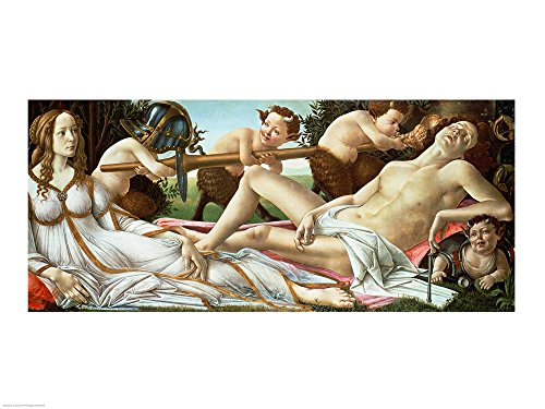 Venus and Mars, c.1485 by Sandro Botticelli Art Print, 37 x 28 inches - Venus And Mars Botticelli