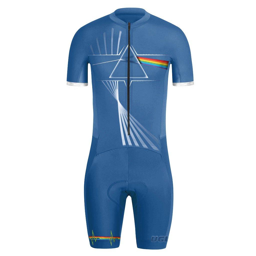 Uglyfrog Sommer Herren Männer Radfahren Trikots & Shirts+Trägerhosen Anzüge with Gel Pad Sport Bekleidung ZD09