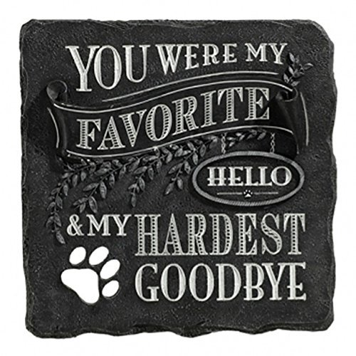 You Were My Favorite Hello and My Hardest Goodbye Plaque Black Stepping Stone by Grasslands