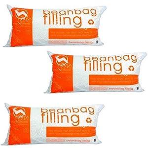 100% Virgin Bean Popped Polystyrene Bean Bag Refill, 3.5 Cubic Feet 3 Pack