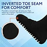 2 Pairs of Super Wide Socks with Non-Skid Grips for Lymphedema - Bariatric Sock - Oversized Anti-Slip Sock Stretches up to 30'' Over Calf for Swollen Feet and Mens and Womens Legs - One Size Unisex