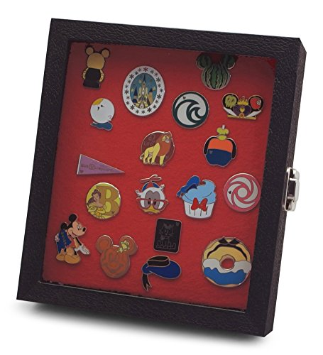 Beautiful Collectors - Hobbymaster Pin Collector's Compact Display Case for Disney, Hard Rock, Olympic, Political Campaign & Other Collectible pins, Holds 20-50 pins (Red)