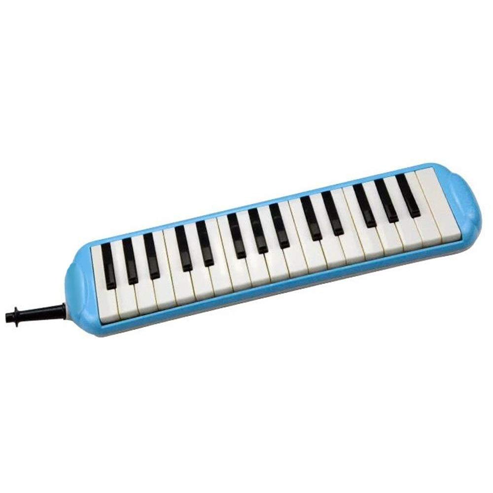 Melodica Musical Instrument Durable Educational Kids 32 Keys Portable Pianica Melodica Musical Instrument With Carrying Bag Gift Toys For Music Lovers Beginners Mouthpieces Tube Sets Blue for Music Lo by Shirleyle-MU (Image #3)