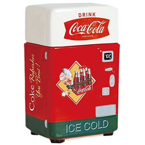 - Westland Giftware Coca-Cola Vending Machine Canister, 8-Inch, Refreshes You Best