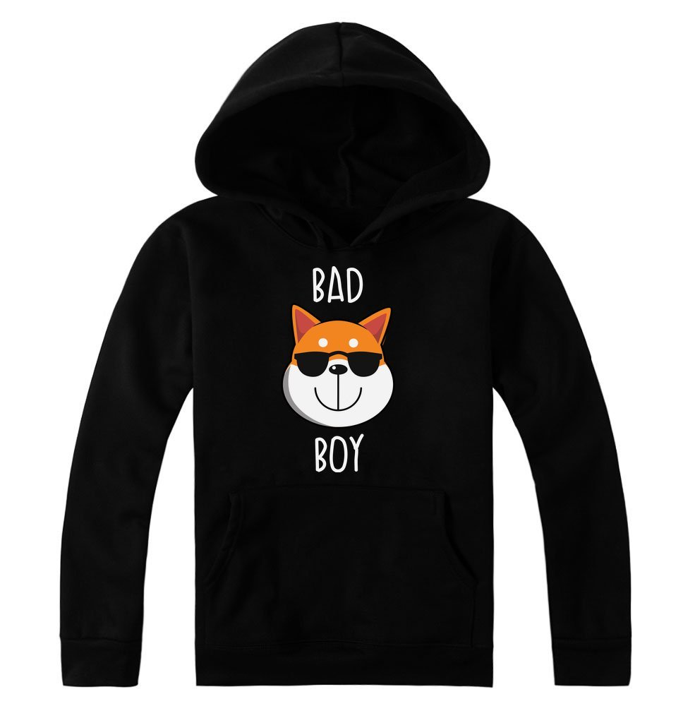 idcommerce Bad Cool Shiba Inu Dog with Sunglasses Women's Hoodie Pullover XX-Large