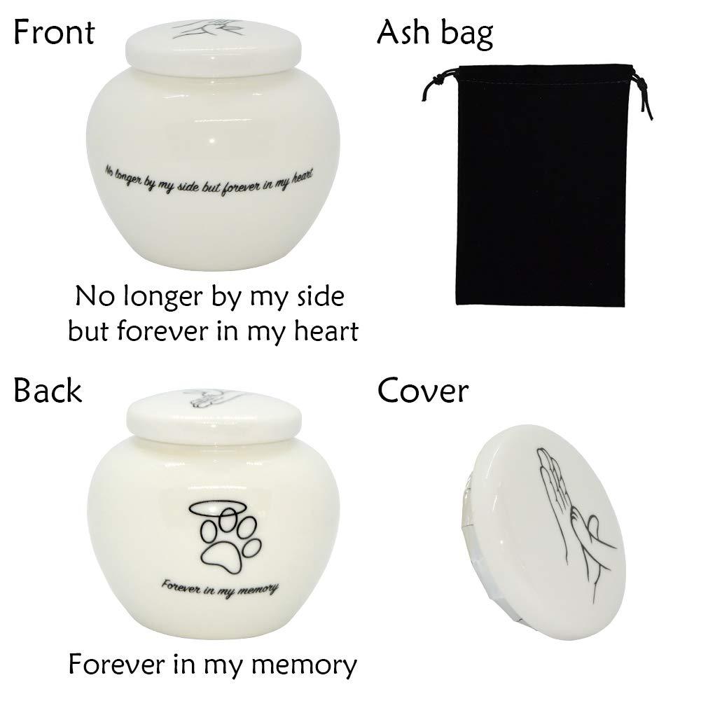 HOMELEX Pet Paw Cremation Ceramics Memorials Urn for Dear Cat Dog Ashes Keepsake