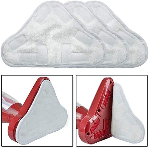 DERAYEE 3 Pack Microfibre Steam Mop Pads Floor Washable Replacement Pads H20 X5