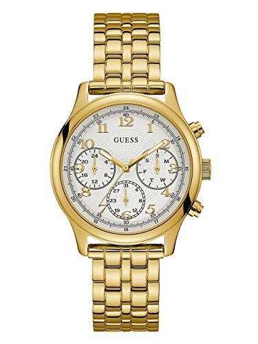 GUESS Women's Stainless Steel Multifunction Casual Watch, Color: Gold-Tone (Model: - Guess Woman