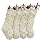 Vanteriam Pack 4 Christmas Stockings, 15'' Unique