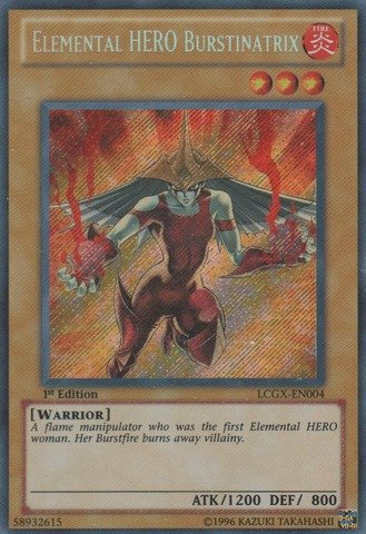 Yu-Gi-Oh! - Elemental HERO Burstinatrix (LCGX-EN004) - Legendary Collection 2 - 1st Edition - Secret Rare (Collection Elemental Hero)