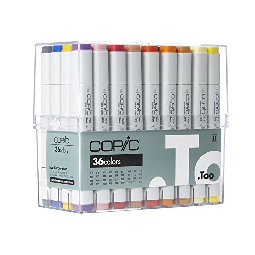 Copic Classic Markers 36-Piece Basic Set by Copic Marker