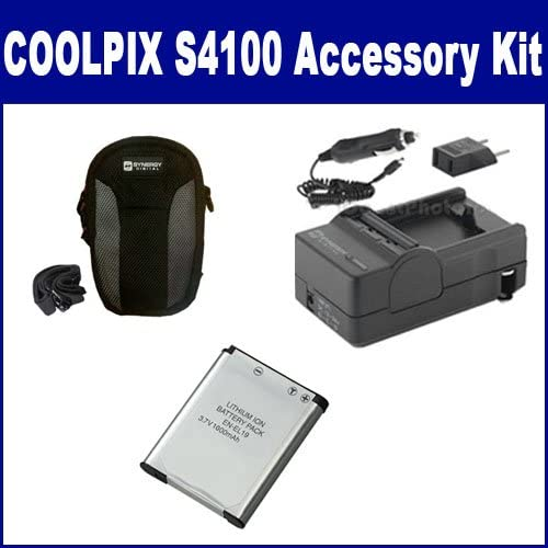 SDC-22 Case Nikon Coolpix S5300 Digital Camera Accessory Kit includes SDENEL19 Battery SDM-1541 Charger