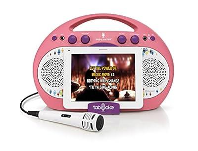 Singing Machine iSM398BG Tabeoke Portable Bluetooth Karaoke System
