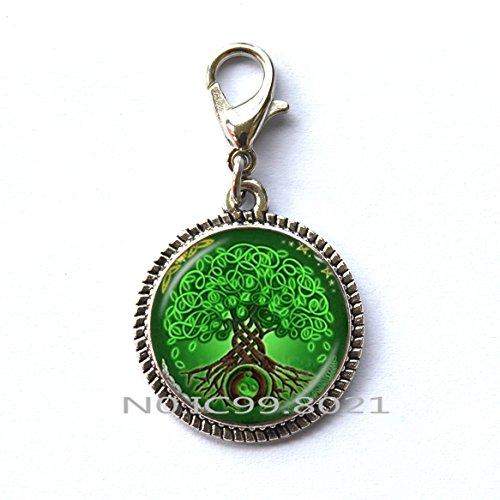 of life Zipper Pull, Celtic knot Zipper Pull, Celtic Tree Zipper Pull, Irish Jewelry Unique Zipper Pull, Scandinavian Celtic Pendan, men's Zipper Pullt.XT159 (A) ()