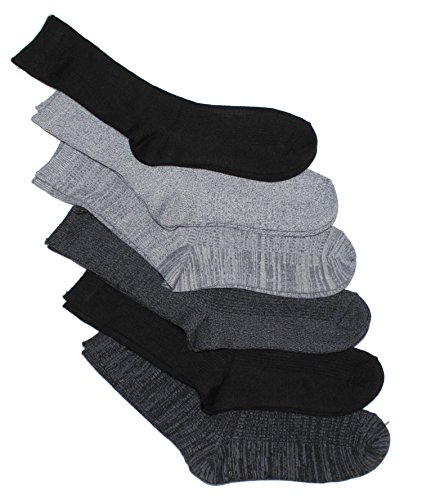 Cuddl Duds Women's 6PK supersoft crew socks (Black Pack)