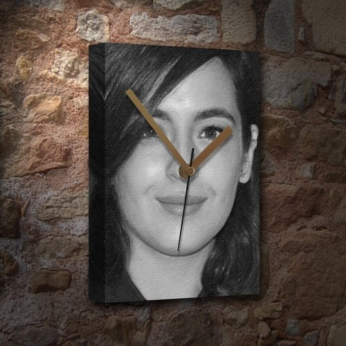 - Seasons Alanna Masterson - Canvas Clock (A5 - Signed by The Artist) #js001