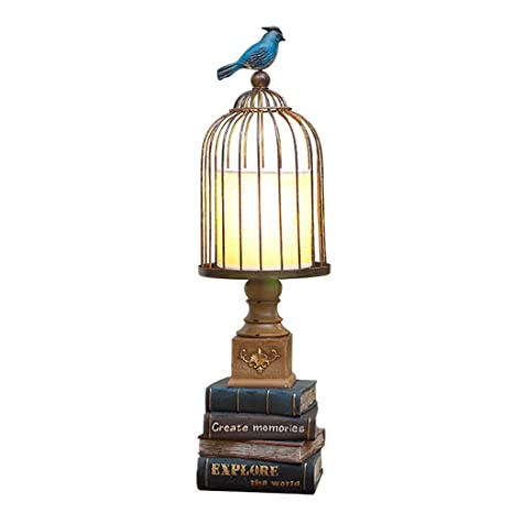 Amazon Com Lanna Shop Creative Birdcage Table Lamp Study