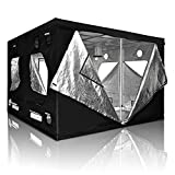 120x120x78in/10x10x6.5ft Xlarge Non-toxic 600D Mylar Reflective Grow Tent Hydroponic Dark Room Box Hut