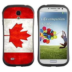 Shell-Star ( National Flag Series-Canada ) Hybrid Heavy Duty Shockproof iFace Fundas Cover Cubre Case para Samsung Galaxy S4 IV (I9500 / I9505 / I9505G) / SGH-i337