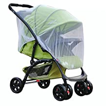 Baby Stroller Full Cover Mosquito Net Durable White Mesh Netting Fits Carriers, Car Seats, Cradles & Bassinets (Universal Diameter 150cm)