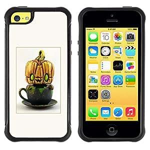 """Hypernova Defender Series TPU protection Cas Case Coque pour Apple iPhone 5C [Extranjero calabaza de Halloween divertido""""]"""