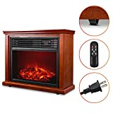 Electric Fireplace Heater with Remote - 1500W