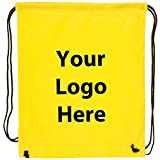 "Econo String Backpack - 100 Quantity - $1.30 Each - PROMOTIONAL PRODUCT / BULK / Branded with YOUR LOGO / CUSTOMIZED. Size: 14"" W x 11"" H."