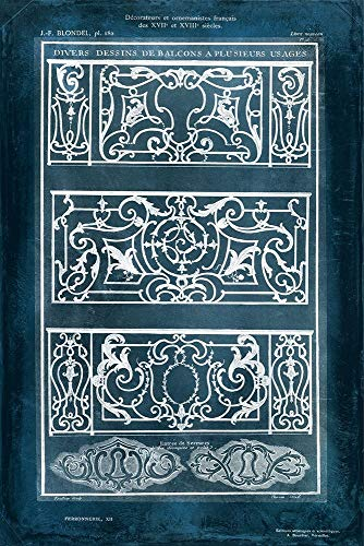 Ornamental Iron Blueprint I by Vision Studio 26