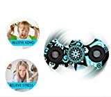 Auroralove New Arrival Colorful EDC Hand Spinner Fidget Toy for Anti-Anxiety Stress Reducer-Spins for up to 2-5 Minutes-Ceramic Bearing Focus Toy for Adult & Kids (Black Color) Auroralove
