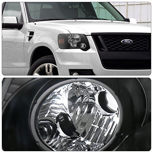 Fits Ford Explorer Sport Trac Front Driving Black Housing Amber Reflector Headlight Head Lamp Upgrade Replacement by AJP Distributors (Image #1)