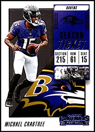 Football NFL 2018 Panini Contenders Season Tickets  91 Michael Crabtree  91  NM+ Ravens 482d02d6e