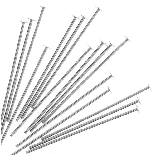 3//4-Inch 20-Piece Sterling Head Pins Silver 24-Gauge