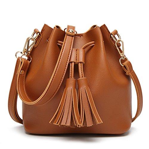 with Dunland Brown Medium Womens Bag Tassel Backpack Lightweight Crossbody qwW6FwxUBz