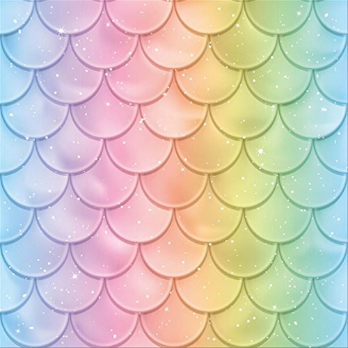Fish Scale Makeup (AOFOTO 7x7ft Fairytale Mermaid Tail Scales Backdrop Colorful Fish Scale Texture Photography Background Kids Adutls Birthday Party Decoration Marine Style Summer Holiday Baby Shower Banner Studio)