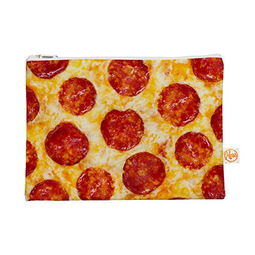 "Kess InHouse ""Pizza My Heart"" Everything Bag, 12.5"" x 8.5..."